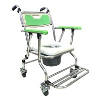 鋁合金附輪收合便器椅