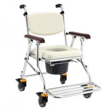 JCS-208 鋁合金可收合有輪洗澡便器椅
